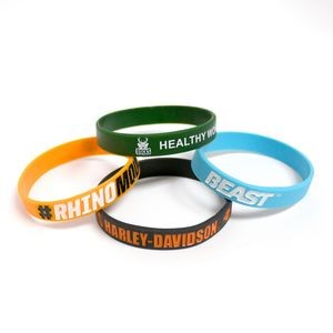"Wristbands Debossed Color Fill 8""x1/2"""