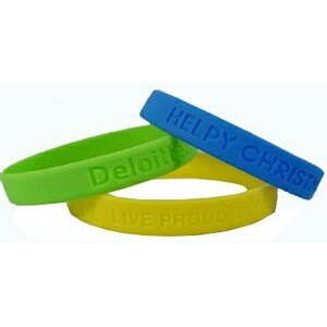 "Debossed 1/2"" x 8"" Wristbands"