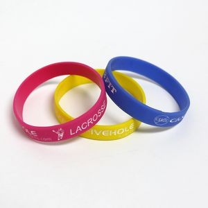 "Wristbands Debossed Color Fill 8""x1/2"" Adult"